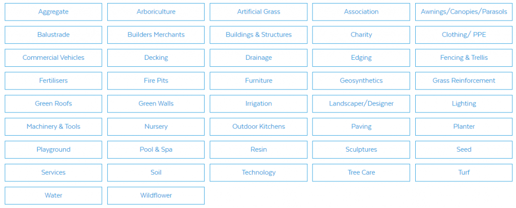 FutureScape 2019 Exhibitor Categories